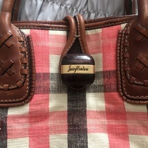 Plaid Juicy Couture Summer bag, with leather trim.
